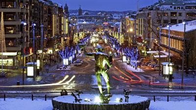 Flaniermeile Avenyn in Göteborg
