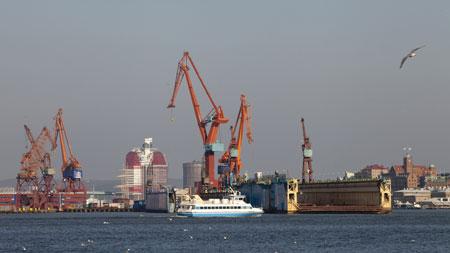 Hafentour in Göteborg: Bild vom Göteborger Hafen