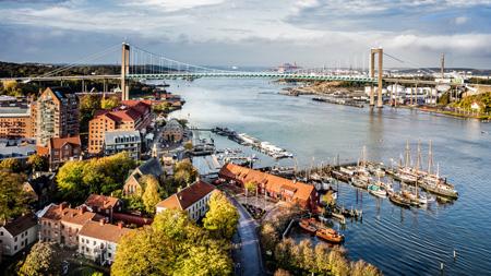 Bild von Klippan und der Göta älv Brücke in Göteborg