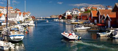 Gullholmen an der Küste von Bohuslän in Westschweden