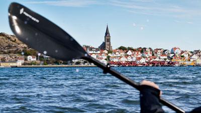 Fjällbacka in der Gemeinde Tanum an der Küste von Bohuslän in Westschweden