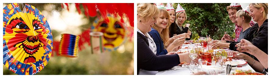 Kräftskiva in Schweden: Freunde feiern das schwedische Krebsfest
