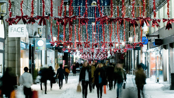 Weihnachtsshopping in Stockholm