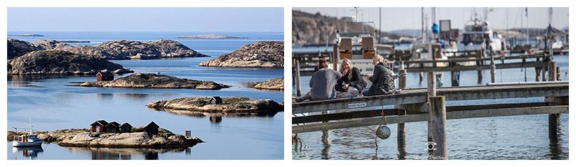 Austern-Metropole Grebbestad in Schweden: Westschweden und Küste von Bohuslän