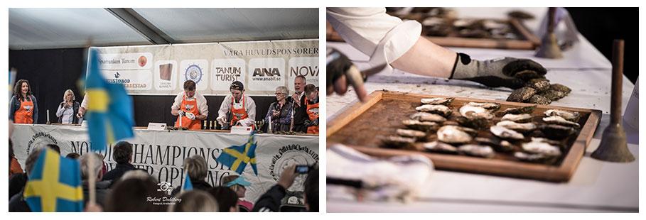 Grebbestad in Schweden: Nordische Meisterschaften im Austernöffnen