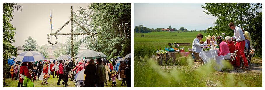 Traditionelle Mittsommerfeiern in Schweden