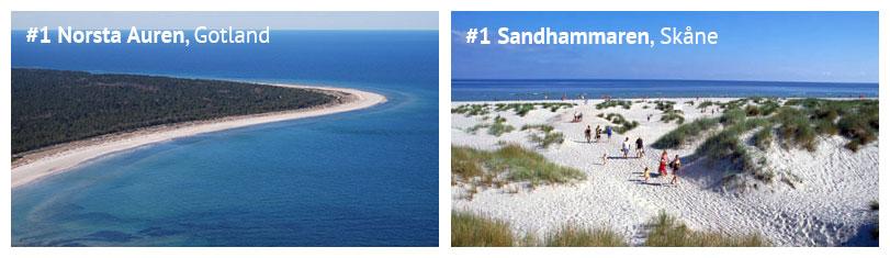 Strände in Schweden: Norsta Auren auf Fårö in Gotland und der Strand Sandhammaren in Skåne