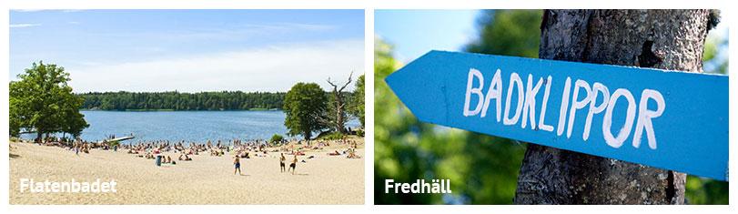 Baden und Schwimmen im Strandbad in Stockholm