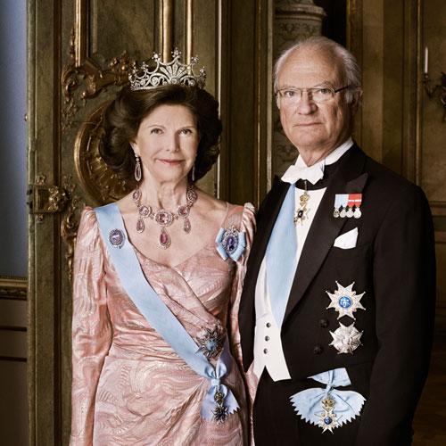 Das Schwedische Königspaar: Königin Silvia und König Carl XVI Gustaf von Schweden