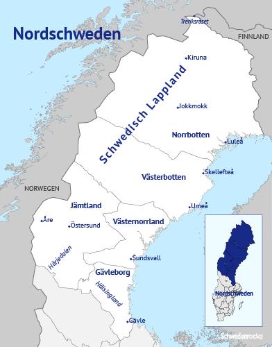 Schweden Karte Regionen.Nordschweden Schwedisch Lappland