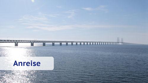 Öresundbrücke von Dänemark nach Schweden