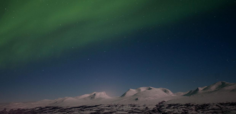 Nordlichter in Nordschweden und Schwedisch Lappland
