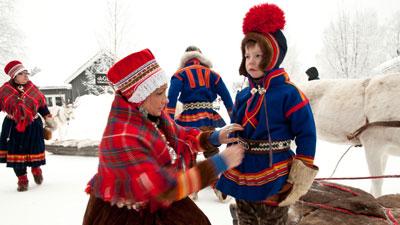 Nordschweden: Sami in Schwedisch Lappland im Norden von Schweden