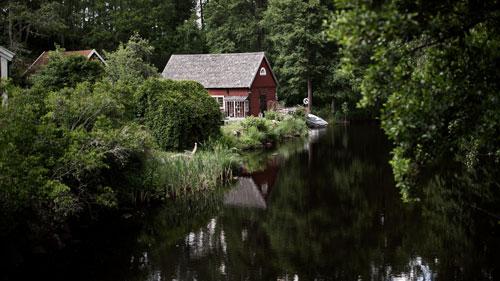 Südschweden: rotes Haus in Småland