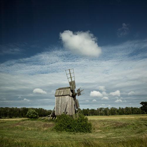 Südschweden: Windmühle auf der Insel Öland