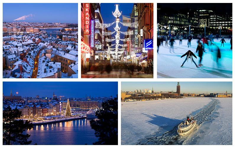 Winter und Weihnachtszeit in Stockholm