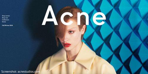 Schwedische Mode von Acne Studios