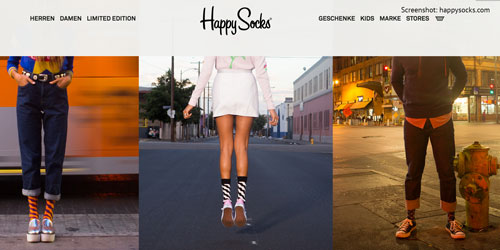 Bunte Socken und farbenfrohe Unterwäsche von Happy Socks aus Schweden