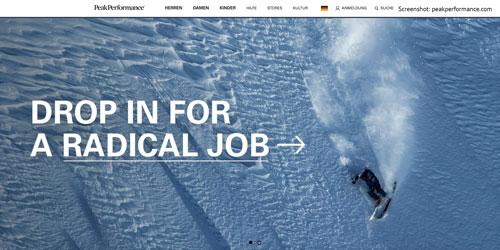 Sport-, Outdoor- und Freizeitkleidung von Peak Performance aus Schweden