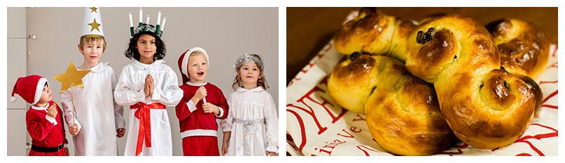 Tag der heiligen Lucia in Schweden: Lussekatter am Luciafest