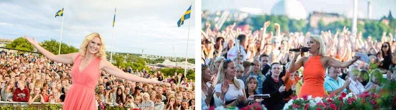 Schweden: Allsång på Skansen in Stockholm