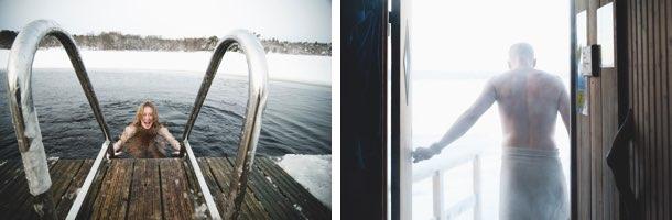 Winteraktivitäten Eisbaden und Winterschwimmen in Schweden