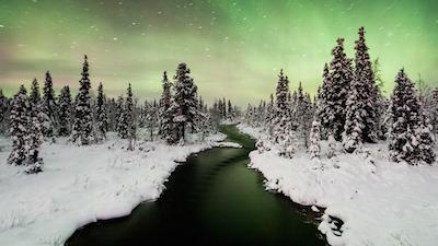 Nordlicht-Polarlicht_Nordschweden-Schwedisch Lappland