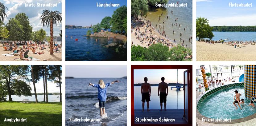 Kinderfreundliche Badeplätze in Stockholm
