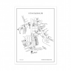 Souvenir aus Schweden: Stockholm-Poster