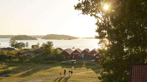 Baden auf Schäreninsel in Stockholm
