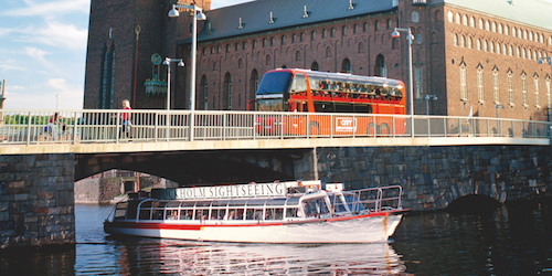 Sightseeing mit Bus und Boot in Stockholm