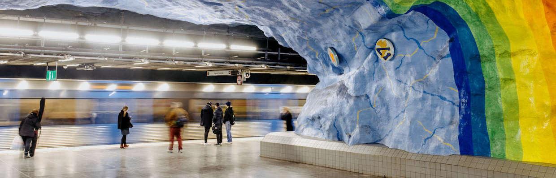 U-Bahn und öffentlicher Nahverkehr in Stockholm