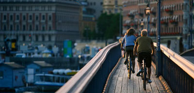 Sightseeing in Stockholm mit dem Fahrrad