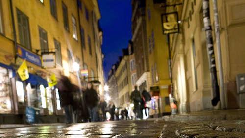 Shopping in der Altstadt von Stockholm