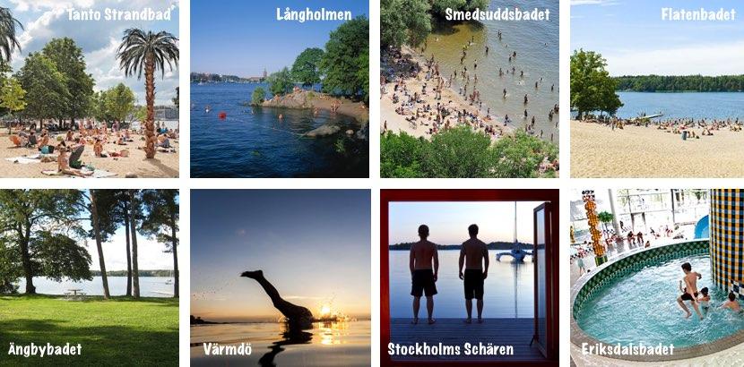 Kinderfreundliche Strände und Badeplätze in Stockholm